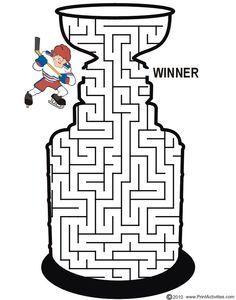 hockey net printable maze - Google Search