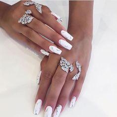nails by @natal_nails 🔥🔥🔥 #nails #lillyghlichi #hudabeauty #nails #stiletto #marble #white #nailstagram #nailsonfleek #nailswow #nailsarts #nailsartist #olatzbilboa