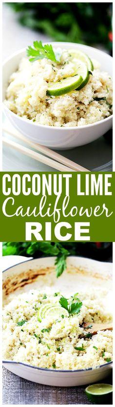 "Coconut Lime Cauliflower ""Rice"""