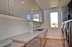Modern laundry room - Cabinet pulls exactly what I'm looking for. Perfect!