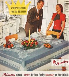 1947 Simtex Cloths - Tempting Table for His Highness