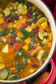 Autumn Minestrone Soup - Cooking Classy