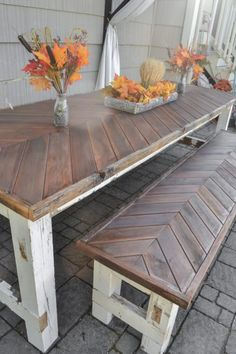 Rustic Salvage Dining Table and Benches for $20