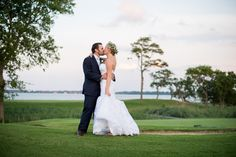 Gold and Teal Summer Wedding | Bride and Groom Sunset Portraits