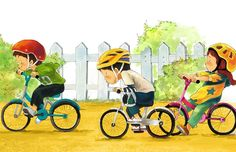 illustration by Kim Dong-Hoon. People Illustration, Fantasy Illustration, Cute Illustration, Character Illustration, Cute Clipart, Bike Art, Cute Characters, Illustrations And Posters, Cute Drawings