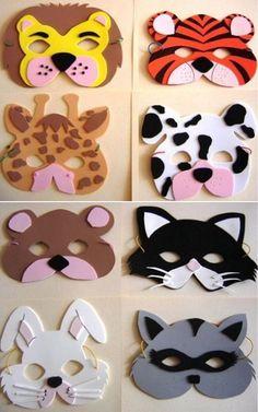 8 patrons à imprimer! Tierische Mascaras von Abs o actividades escolares. Animal Masks For Kids, Mask For Kids, Masks Kids, Felt Crafts, Diy And Crafts, Crafts For Kids, Simple Crafts, Clay Crafts, Diy Paper