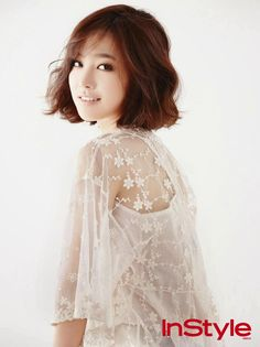 Jin Se Yeon - InStyle June 2014  if i EVER cut my hair super short.. this is what i would go for ;)