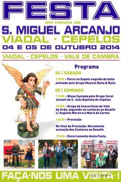 Festa em Honra de S. Miguel Arcanjo > 4 e 5 Out 2014 @ Viadal, Cepelos, Vale de Cambra  #ValeDeCambra #CepelosVLC