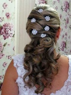 arranjo/ flor branca com strass brilho para noiva -kit com 6
