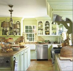 Englische Landhausküche Camebridge mit Insel in Grün ...   {Englische landhausküche grün 72}