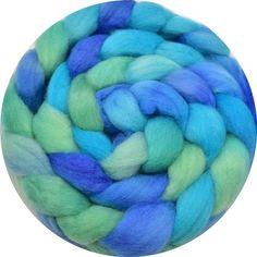 Hand Dyed Corriedale Tops in Ocean Blue Nuno Felting, Needle Felting, Wool Wash, Weaving Projects, Wool Felt, Fiber Art, Spinning, Blue Green, Ship