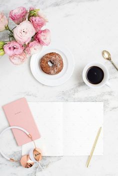 Styled stock photography for bloggers and creative business owners. Blush pink and marble desktop collection. Only 10 images available! #StockPhotography