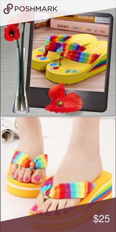 """Lily Fashions Sandal Wedges 🍸Yeah...Babie🍸Yellow in color; slip-on construction; fabric straps; approx. heel meas. 2 1/2"""" 🎁One full-size (0.33 oz.) Ulta Salon Formula Nail Lacquer included w/purchase. Eye-It...Buy-It✌🏾️ Lily Fashions Shoes Sandals"""