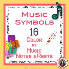 REINFORCE MUSIC THEORY NOTE NAMES with these MUSIC WORKSHEETS: COLOR by MUSIC NOTES and RESTS. Excellent for your Music Lessons This set contains 16 MUSIC Coloring Worksheets ♫ ♫ Coloring sheets are such a favorite with young musicians ♫ ♫