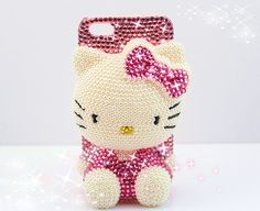 Kawaii!3D Bling Diamond Hello Kitty Case Cover Girl Gift Protector for  iPhone 5 5S 5C Note3 Note2 S4