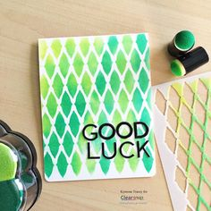 How to Blend Pigment Ink Using a Stencil - One-Step Card - ClearSnap Blog