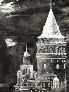 Mywork miniature painting Galata kulesi
