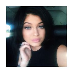 kylie jenner with blue eyes Tumblr ❤ liked on Polyvore featuring kylie jenner