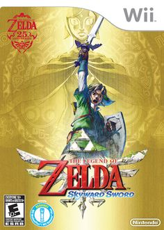 """""""Link must answer the call of destiny and set out on an adventure that will take him from the vast skies to the mysterious land below.""""--Container."""