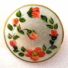 David Andersen Sterling Enamel Flower Pin