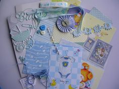 "Lots of lovely bits and bobs to inspire your creativity for producing scrapbook pages, journalling, smash books, cardmaking, gift tags and whatever your imagination dictates  *** Your BABY BOY pack will be chosen at random ***  * Each pack contains 25 items in a 7""x5"" (18cms x13cms) cello bag. * Plain and patterned cardstock * two white, embossed aperture cards to use as cards or cut up as cardstock * Baby toppers and diecuts (baby elephant border can be cut up to make 4 cute little…"