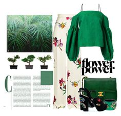 """Floral - green"" by junethesev7n ❤ liked on Polyvore featuring Etro, Hellessy, Chanel, Alexis Bittar and Nearly Natural"