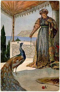 Lady with Peacock - Sergey Solomko