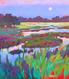 Impressionist Paintings, Impressionism, Watercolor Paintings Nature, Landscape Art, Landscape Paintings, Contemporary Paintings, Love Art, Painting Inspiration, Art Lessons