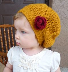Slouchy Beanie Toddler Hat Baby Girl Hat by LittleMommaBoutique, $25.00
