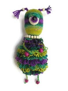 Mod Monster Doll Stuffed Alien Toy cute Plush by KrugerShop