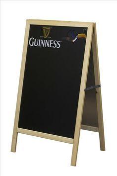 GUINNESS A-FRAME SANDWICH BOARD (http://www.mullysirishimports.com/guinness-a-frame-sandwich-board/)