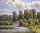 Afternoon Light on the Snake by Kim Casebeer Oil ~ 10 x 12