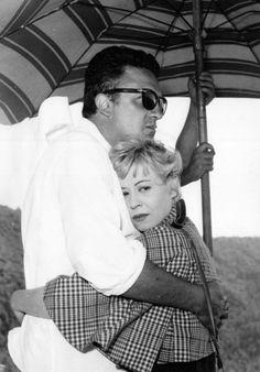 Federico Fellini and Giulietta Masina 1957