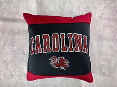 University of South Carolina Recycled Sweatshirt Pillow makes an excellent graduation gift for the student who was just accepted to U of SC. College Students will love to receive this in a care package or as a Christmas gift. Usc College, College Student Gifts, College Students, Student Christmas Gifts, Dorm Pillows, Gifts For Sports Fans, University Of South Carolina, Care Packages, Fabric Bags