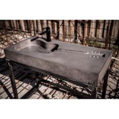 Concrete Sink And Wash Basins Made Like A Guitar Concrete Sink, Cement, Wow Products, Industrial Furniture, Basin, Bookshelves, Kitchen Design, Household, Guitar