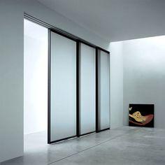 Modern Interior Sliding Door Design For Minimalist House Sliding Pocket Doors, Sliding Room Dividers, Sliding Door Design, Modern Sliding Doors, Sliding Wall, Sliding Glass Door, Glass Doors, Modern Closet Doors, Door Dividers