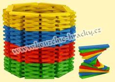 Skládací destičky barevné - 200ks