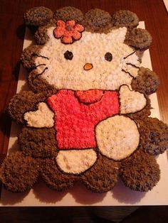 ♥HELLO KITTY CUPCAKE CAKE♥