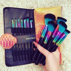 ☼✦ Pinterest: dopethemesz ; oil slick, holographic dreams ; Spectrum Brushes, Siren collection ✦☼