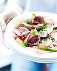 Salade de pastèque, tataki de thon pour 6 personnes - Recettes Elle à Table
