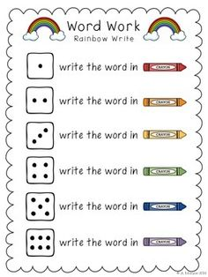 Work Work It is a useful resource for your word work activities in class or as homework. The activities in this packet include: Rainbow Write Mark It Up Scramble It Stamp It Order It Happy Teaching! Spelling Word Activities, Spelling Practice, Grade Spelling, Phonics Words, Sight Word Activities, Spelling Words, Spelling Games, Listening Activities, Word Work Stations