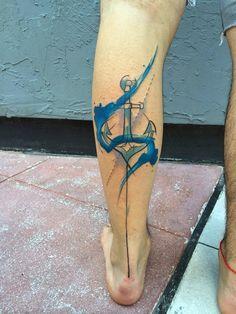 Tatuagem aquarela âncora p.s: São adicionada de outros pins ou da internet