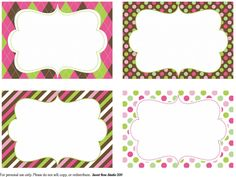 Owl Birthday Blank Fancy Labels