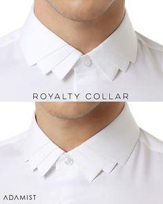 Fashion Design Men Shirt Collars Ideas For 2019 Nigerian Men Fashion, Indian Men Fashion, Mens Fashion Suits, Trendy Fashion, High Collar Shirts, Shirt Collar Styles, Shirt Collars, Mens Designer Shirts, Designer Suits For Men