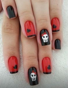 20 Festive Anti-Valentine Nails Arts for those Who Aren't in