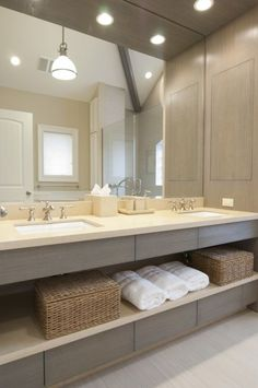 Double sinks and love the storage below