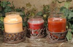 Cast Iron Jar Candle Holders Set of 6