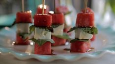 Get Watermelon and Feta Skewers Recipe from Food Network
