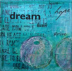 Step-by-step using Mary Nasser's stencil from StencilGirl Products by Carolyn Dube