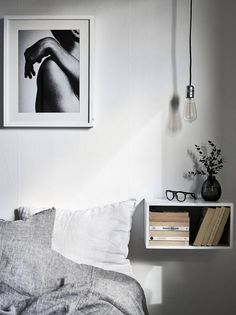 Stylish little shelves in unexpected places make a home feel custom-built, while also adding some extra storage in a small space